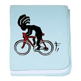 Kokopelli Bicycle baby blanket