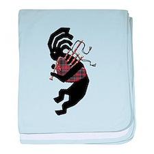 Kokopelli Bagpipes baby blanket