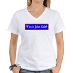 John Galt Women's V-Neck T-Shirt