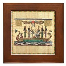 Egyptian Boat Framed Tile
