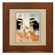 Egyptian Sisters -Framed Tile