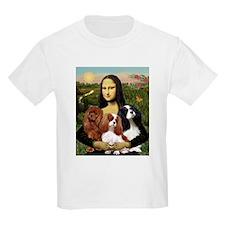 Mona & her 3 Cavaliers Kids T-Shirt
