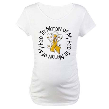 In Memory Appendix Cancer Maternity T-Shirt