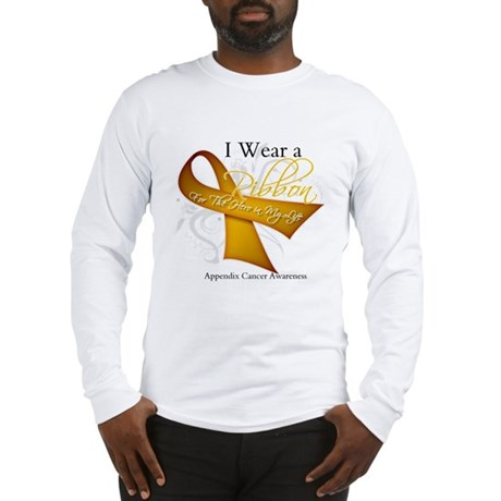 Ribbon Hero Appendix Cancer Long Sleeve T-Shirt