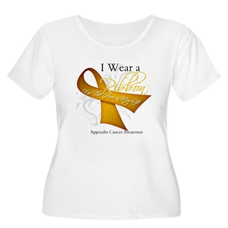 Ribbon Hero Appendix Cancer Women's Plus Size Scoo