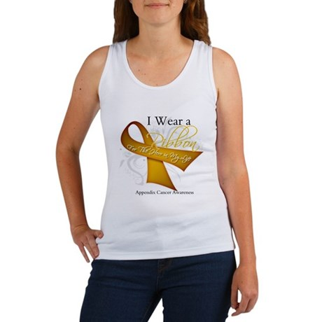 Ribbon Hero Appendix Cancer Women's Tank Top