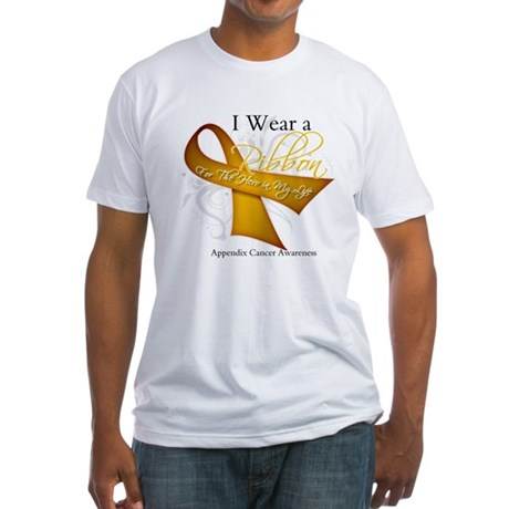 Ribbon Hero Appendix Cancer Fitted T-Shirt