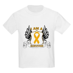 Survivor Appendix Cancer Kids Light T-Shirt