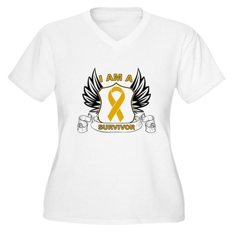 Survivor Appendix Cancer Women's Plus Size V-Neck