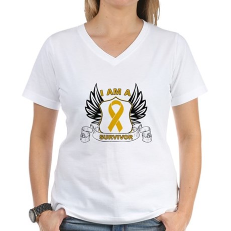 Survivor Appendix Cancer Women's V-Neck T-Shirt