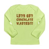 Chocolate Wasted Long Sleeve Infant T-Shirt
