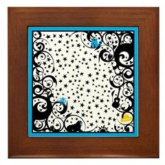 Let It Be Swirls Framed Tile