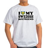 I Love My Swedish Boyfriend Ash Grey T-Shirt