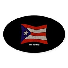 Puerto Rico Flag Graffiti Stickers