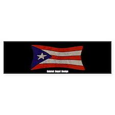 Puerto Rico Flag Graffiti Bumper Sticker