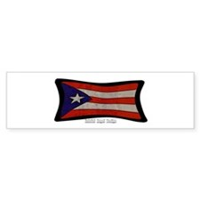 Puerto Rico Flag Graffiti Bumper Sticker