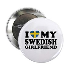 I Love My Swedish Girlfriend Button