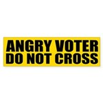 Angry Voter: Do Not Cross Bumper Sticker