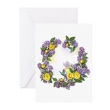 Lilacs &amp; Yellow Roses Greeting Cards (Pk of 10