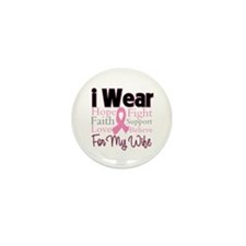 Wife - Breast Cancer Mini Button (100 pack)