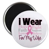 "Wife - Breast Cancer 2.25"" Magnet (10 pack)"