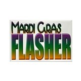 Mardi Gras Flasher Rectangle Magnet (10 pack)