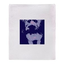 Wheaton Terrier Pop Art Throw Blanket