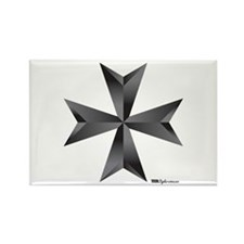 Maltese Cross Rectangle Magnet