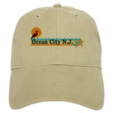 Ocean City NJ - Beach Design Baseball Cap