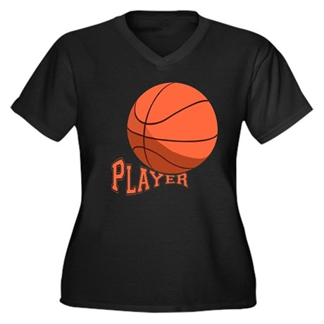 The Player Women's Plus Size V-Neck Dark T-Shirt