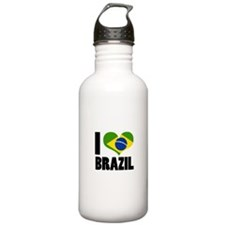 I Heart Brazil Water Bottle