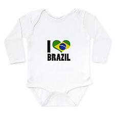 I Heart Brazil Long Sleeve Infant Bodysuit