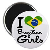 "I Heart Brazilian Girls 2.25"" Magnet (10 pack)"