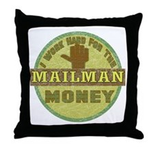 Mailman Throw Pillow