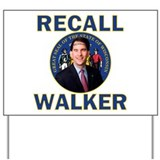Recall Scott Walker Yard Sign