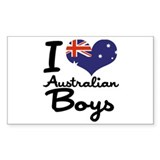 I Heart Australian Boys Decal
