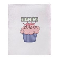 Cupcake Princess Throw Blanket
