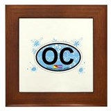 Ocean City NJ - Oval Design Framed Tile