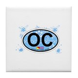 Ocean City NJ - Oval Design Tile Coaster