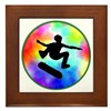 Tie Dye Skater Framed Tile