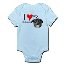 Unique Rottweiller Infant Bodysuit