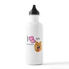 Cute Pomeranians Water Bottle