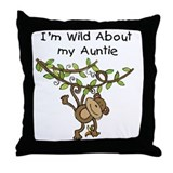 Wild About Auntie Long Sleeve Throw Pillow