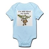 Wild About Auntie Long Sleeve Onesie