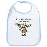 Wild About Auntie Long Sleeve Bib