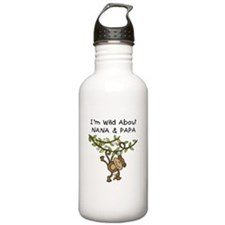 Wild About Nana & Papa Water Bottle
