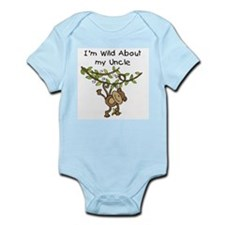 Wild About My Uncle Long Sleeve Onesie
