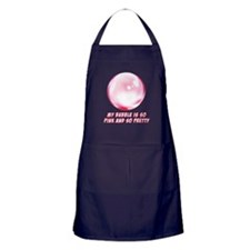 My Bubble is So Pink and So Pretty Apron (dark)