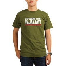 Don't Look At My VaJayJay! Organic Men's T-Shirt (