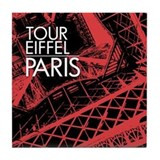 Tour Eiffel Paris Tile Coaster (coral)